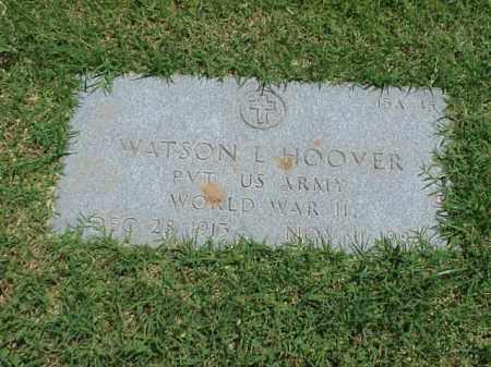 HOOVER (VETERAN WWII), WATSON L - Pulaski County, Arkansas | WATSON L HOOVER (VETERAN WWII) - Arkansas Gravestone Photos
