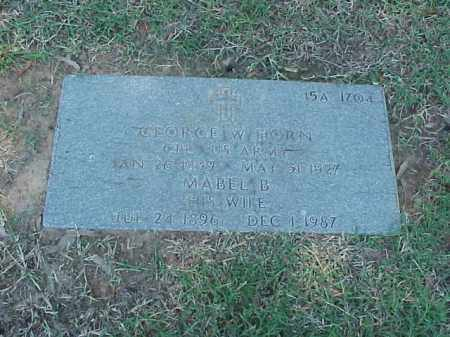 HORN (VETERAN WWI), GEORGE W - Pulaski County, Arkansas | GEORGE W HORN (VETERAN WWI) - Arkansas Gravestone Photos