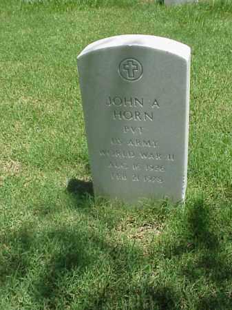 HORN (VETERAN WWII), JOHN A - Pulaski County, Arkansas | JOHN A HORN (VETERAN WWII) - Arkansas Gravestone Photos