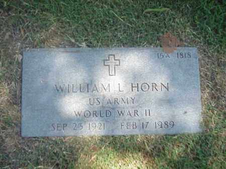 HORN (VETERAN WWII), WILLIAM L - Pulaski County, Arkansas | WILLIAM L HORN (VETERAN WWII) - Arkansas Gravestone Photos