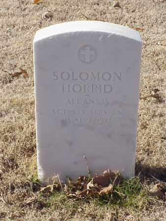 HORRID  (VETERAN WWI), SOLOMON - Pulaski County, Arkansas | SOLOMON HORRID  (VETERAN WWI) - Arkansas Gravestone Photos