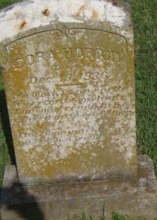 HORRID, CORA - Pulaski County, Arkansas | CORA HORRID - Arkansas Gravestone Photos