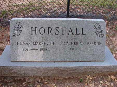 HORSFALL, CATHERINE - Pulaski County, Arkansas | CATHERINE HORSFALL - Arkansas Gravestone Photos