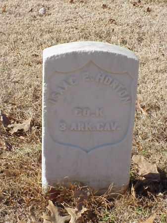 HORTON  (VETERAN UNION), ISAAC E - Pulaski County, Arkansas   ISAAC E HORTON  (VETERAN UNION) - Arkansas Gravestone Photos
