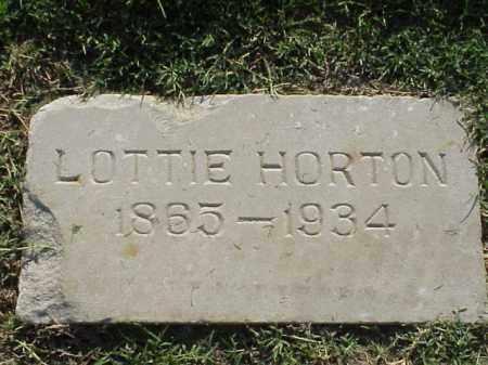 HORTON, LOTTIE - Pulaski County, Arkansas | LOTTIE HORTON - Arkansas Gravestone Photos