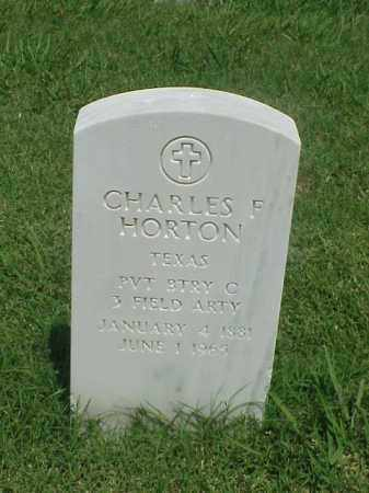 HORTON (VETERAN), CHARLES F - Pulaski County, Arkansas | CHARLES F HORTON (VETERAN) - Arkansas Gravestone Photos