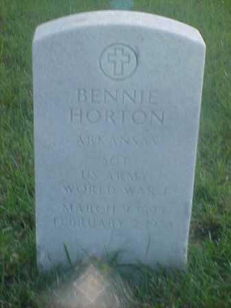 HORTON (VETERAN WWI), BENNIE - Pulaski County, Arkansas | BENNIE HORTON (VETERAN WWI) - Arkansas Gravestone Photos