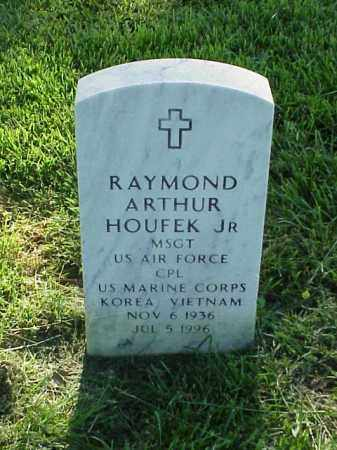 HOUFEK, JR (VETERAN 2 WARS), RAYMOND ARTHUR - Pulaski County, Arkansas | RAYMOND ARTHUR HOUFEK, JR (VETERAN 2 WARS) - Arkansas Gravestone Photos