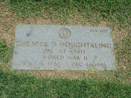 HOUGHTALING (VETERAN WWII), CHESTER D - Pulaski County, Arkansas | CHESTER D HOUGHTALING (VETERAN WWII) - Arkansas Gravestone Photos