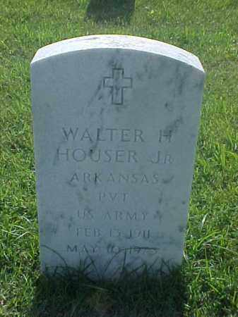 HOUSER, JR (VETERAN), WALTER H - Pulaski County, Arkansas | WALTER H HOUSER, JR (VETERAN) - Arkansas Gravestone Photos