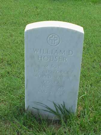 HOUSER (VETERAN 2 WARS), WILLIAM D - Pulaski County, Arkansas | WILLIAM D HOUSER (VETERAN 2 WARS) - Arkansas Gravestone Photos