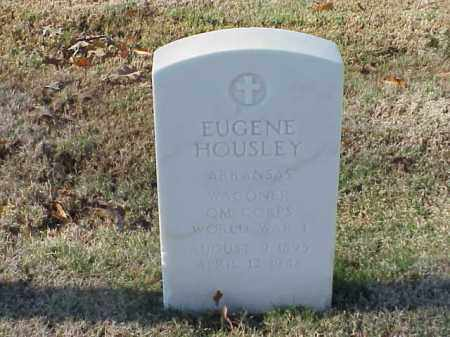 HOUSLEY  (VETERAN WWI), EUGENE - Pulaski County, Arkansas | EUGENE HOUSLEY  (VETERAN WWI) - Arkansas Gravestone Photos