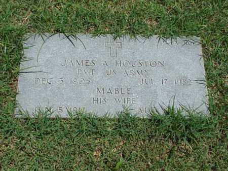 HOUSTON (VETERAN WWII), JAMES A - Pulaski County, Arkansas | JAMES A HOUSTON (VETERAN WWII) - Arkansas Gravestone Photos