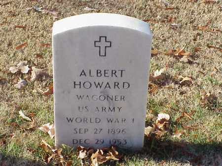 HOWARD  (VETERAN WWI), ALBERT - Pulaski County, Arkansas | ALBERT HOWARD  (VETERAN WWI) - Arkansas Gravestone Photos
