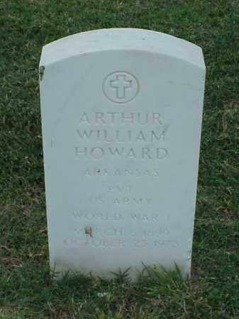 HOWARD (VETERAN WWI), ARTHUR WILLIAM - Pulaski County, Arkansas | ARTHUR WILLIAM HOWARD (VETERAN WWI) - Arkansas Gravestone Photos
