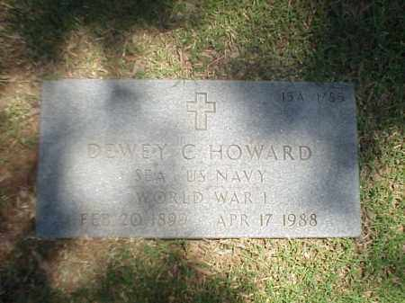 HOWARD (VETERAN WWI), DEWEY C - Pulaski County, Arkansas | DEWEY C HOWARD (VETERAN WWI) - Arkansas Gravestone Photos