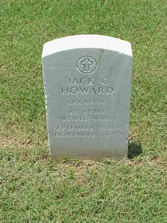 HOWARD (VETERAN WWI), JACK C - Pulaski County, Arkansas | JACK C HOWARD (VETERAN WWI) - Arkansas Gravestone Photos