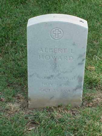 HOWARD (VETERAN WWII), ALBERT L - Pulaski County, Arkansas | ALBERT L HOWARD (VETERAN WWII) - Arkansas Gravestone Photos