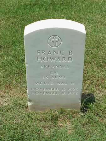 HOWARD (VETERAN WWII), FRANK B - Pulaski County, Arkansas | FRANK B HOWARD (VETERAN WWII) - Arkansas Gravestone Photos