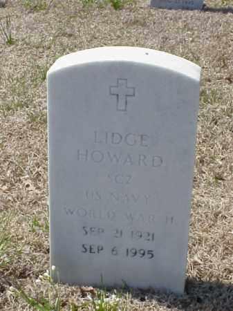 HOWARD (VETERAN WWII), LIDGE - Pulaski County, Arkansas | LIDGE HOWARD (VETERAN WWII) - Arkansas Gravestone Photos