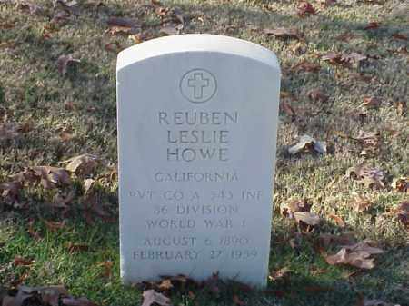 HOWE  (VETERAN WWI), REUBEN LESLIE - Pulaski County, Arkansas | REUBEN LESLIE HOWE  (VETERAN WWI) - Arkansas Gravestone Photos