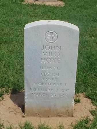 HOYE (VETERAN WWI), JOHN MILO - Pulaski County, Arkansas | JOHN MILO HOYE (VETERAN WWI) - Arkansas Gravestone Photos