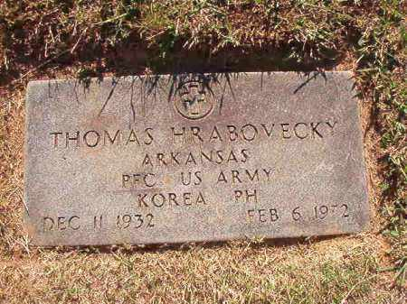 HRABOVECKY (VETERAN KOR), THOMAS - Pulaski County, Arkansas | THOMAS HRABOVECKY (VETERAN KOR) - Arkansas Gravestone Photos