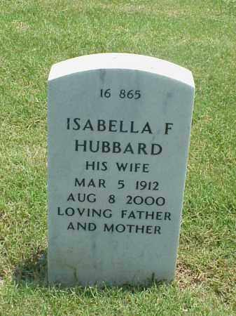 HUBBARD, ISABELLA F - Pulaski County, Arkansas | ISABELLA F HUBBARD - Arkansas Gravestone Photos