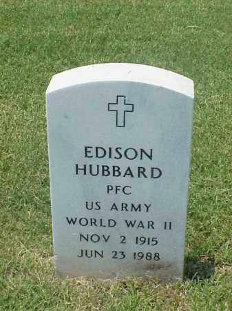 HUBBARD (VETERAN WWII), EDISON - Pulaski County, Arkansas | EDISON HUBBARD (VETERAN WWII) - Arkansas Gravestone Photos