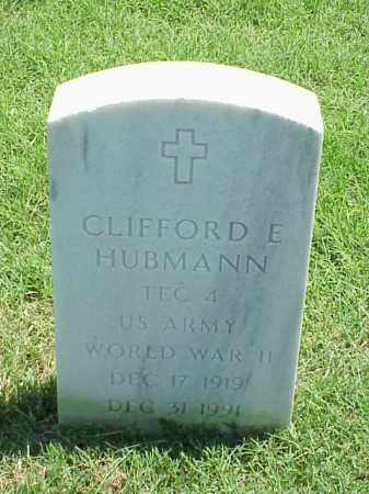HUBMANN (VETERAN WWII), CLIFFORD E - Pulaski County, Arkansas | CLIFFORD E HUBMANN (VETERAN WWII) - Arkansas Gravestone Photos