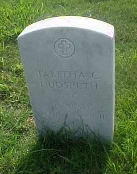 HUDSPETH (VETERAN WWII), TALITHA C - Pulaski County, Arkansas | TALITHA C HUDSPETH (VETERAN WWII) - Arkansas Gravestone Photos