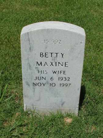 HUENEFELD, BETTY MAXINE - Pulaski County, Arkansas | BETTY MAXINE HUENEFELD - Arkansas Gravestone Photos