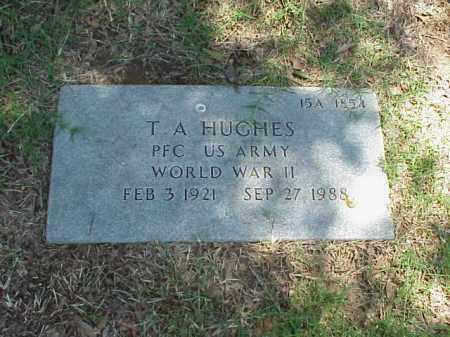 HUGHES (VETERAN WWII), T A - Pulaski County, Arkansas | T A HUGHES (VETERAN WWII) - Arkansas Gravestone Photos