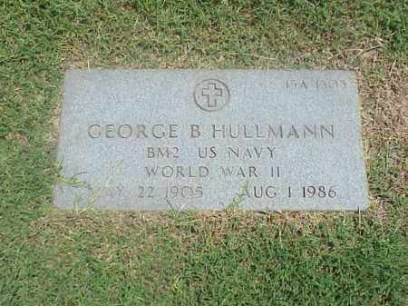 HULLMANN VETERAN (WWII), GEORGE B - Pulaski County, Arkansas | GEORGE B HULLMANN VETERAN (WWII) - Arkansas Gravestone Photos
