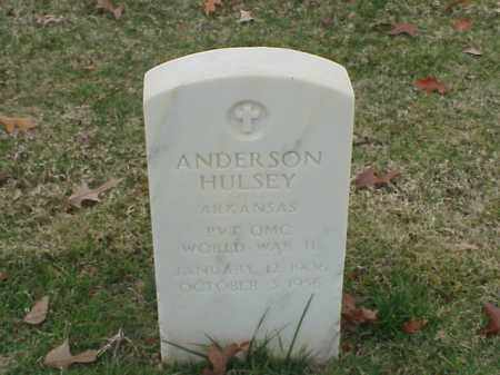 HULSEY  (VETERAN WWII), ANDERSON - Pulaski County, Arkansas | ANDERSON HULSEY  (VETERAN WWII) - Arkansas Gravestone Photos