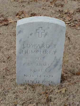 HUMPHREY (VETERAN KOR), EDWARD T - Pulaski County, Arkansas | EDWARD T HUMPHREY (VETERAN KOR) - Arkansas Gravestone Photos