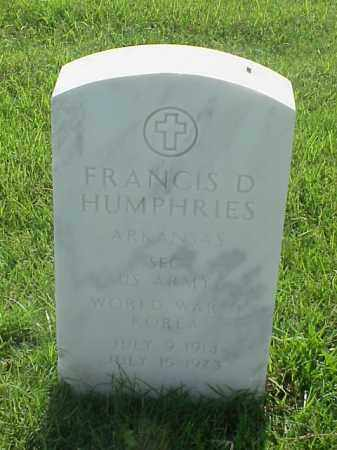 HUMPHRIES (VETERAN 2 WARS), FRANCIS D - Pulaski County, Arkansas | FRANCIS D HUMPHRIES (VETERAN 2 WARS) - Arkansas Gravestone Photos
