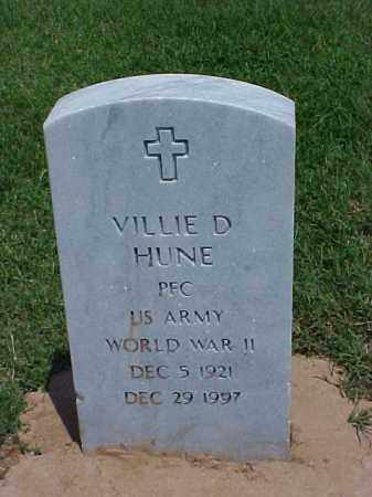 HUNE (VETERAN WWII), VILLIE DETROIT - Pulaski County, Arkansas | VILLIE DETROIT HUNE (VETERAN WWII) - Arkansas Gravestone Photos