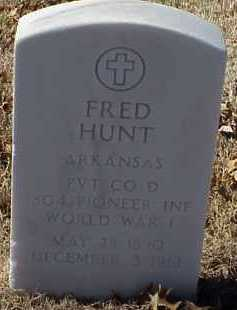 HUNT  (VETERAN WWI), FRED - Pulaski County, Arkansas | FRED HUNT  (VETERAN WWI) - Arkansas Gravestone Photos