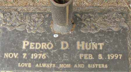 HUNT, PEDRO D. - Pulaski County, Arkansas | PEDRO D. HUNT - Arkansas Gravestone Photos