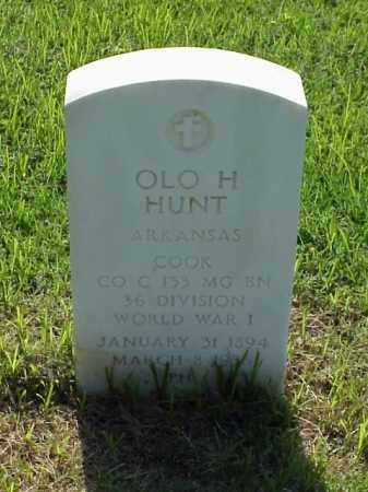 HUNT (VETERAN WWI), OLO H - Pulaski County, Arkansas | OLO H HUNT (VETERAN WWI) - Arkansas Gravestone Photos