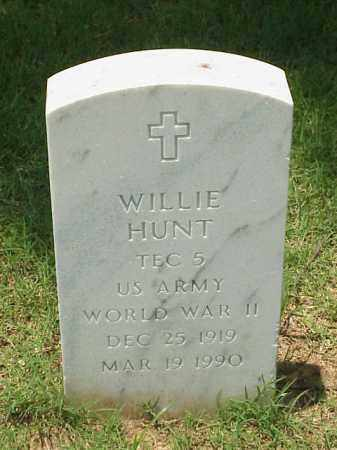 HUNT (VETERAN (WWII), WILLIE - Pulaski County, Arkansas | WILLIE HUNT (VETERAN (WWII) - Arkansas Gravestone Photos
