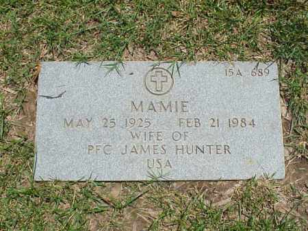 HUNTER, MAMIE - Pulaski County, Arkansas | MAMIE HUNTER - Arkansas Gravestone Photos