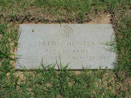 HUNTER (VETERAN WWI), FRED J - Pulaski County, Arkansas | FRED J HUNTER (VETERAN WWI) - Arkansas Gravestone Photos