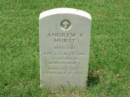 HURST (VETERAN WWI), ANDREW E - Pulaski County, Arkansas | ANDREW E HURST (VETERAN WWI) - Arkansas Gravestone Photos