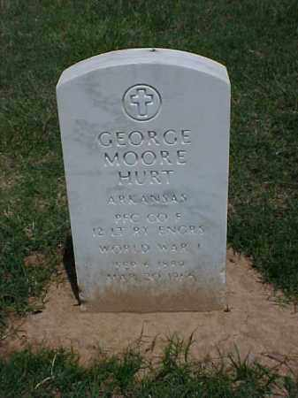 HURT (VETERAN WWI), GEORGE MOORE - Pulaski County, Arkansas | GEORGE MOORE HURT (VETERAN WWI) - Arkansas Gravestone Photos