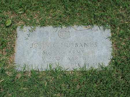 HUSBANDS (VETERAN WWII), JOHN C - Pulaski County, Arkansas | JOHN C HUSBANDS (VETERAN WWII) - Arkansas Gravestone Photos