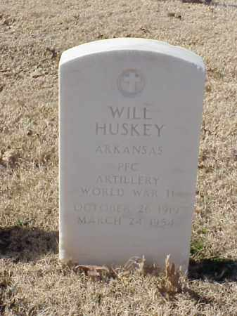 HUSKEY  (VETERAN WWII), WILL - Pulaski County, Arkansas | WILL HUSKEY  (VETERAN WWII) - Arkansas Gravestone Photos