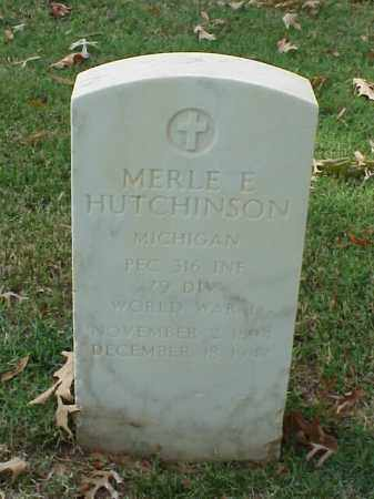 HUTCHINSON  (VETERAN WWI), MERLE E - Pulaski County, Arkansas | MERLE E HUTCHINSON  (VETERAN WWI) - Arkansas Gravestone Photos
