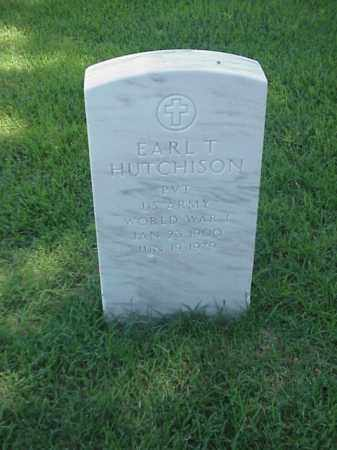 HUTCHINSON (VETERAN WWI), EARL T - Pulaski County, Arkansas | EARL T HUTCHINSON (VETERAN WWI) - Arkansas Gravestone Photos